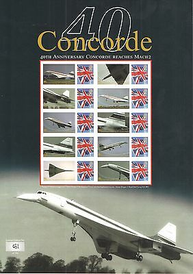 BC-319 2010 Concorde 40th Anniversary Business Smilers Sheet