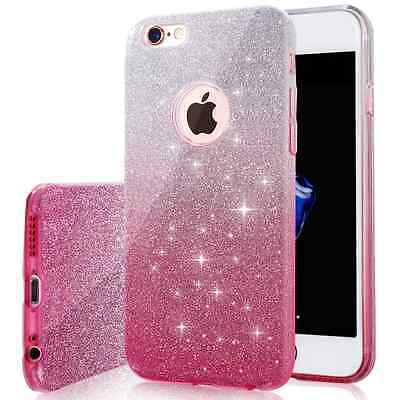 NEW iPhone 6s Case, Girls SHINY GLITTER CASE, Bling, Crystal Clear, Very sparkly