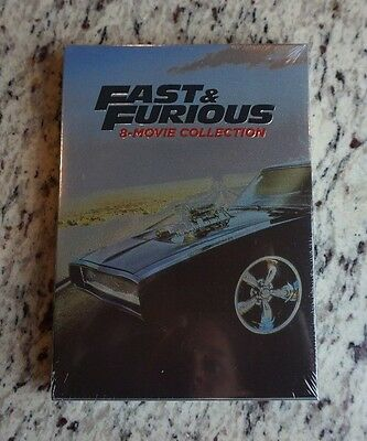 Fast & and Furious 1-8 Complete 8 MOVIE Collection DVD Set 9 Disc 1ST CLASS SHIP
