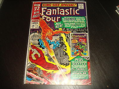 FANTASTIC FOUR ANNUAL #4 Lee Kirby Marvel Comics 1966 VG/FN