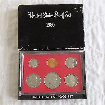 USA 1980 s 6 COIN PROOF YEAR SET - sealed with outer