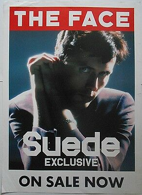 BRETT ANDERSON Of SUEDE Britpop Band The Face Rare Official UK Magazine POSTER