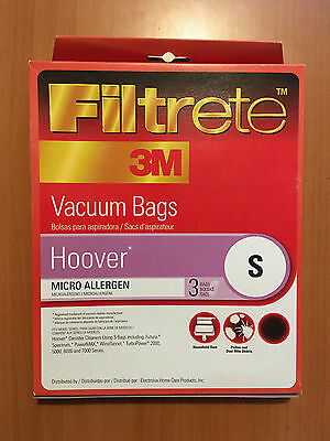 Hoover Type S Vacuum Cleaner Filter Bags 3 Pack Filtrete 64705