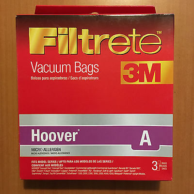 Lot Of 8 Boxes 3M 64700A Hoover A Vacuum Bags 3 Micro Allergen 24 Bags New