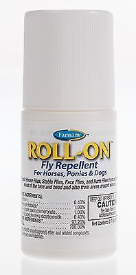 Roll-On Fly Repellent for Horses, Ponies and Dogs, 2oz