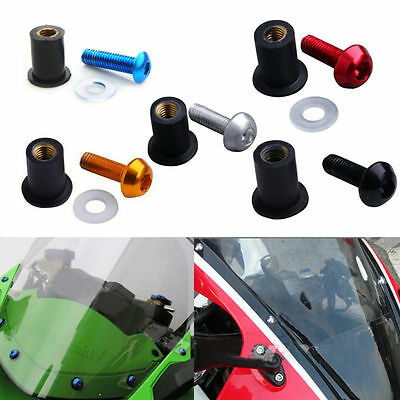 6PCS Windscreen Windshield Bolts Screws Kit For Kawasaki Ninja 250 EX250 EX500