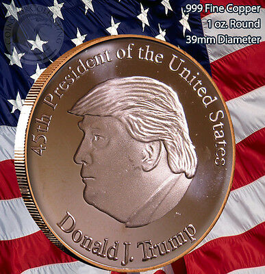 Trump 45th President 1 oz .999 Copper Round