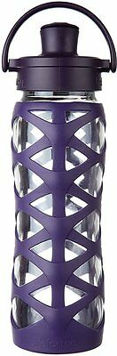 Glass Bottle with Active Flip Cap, LifeFactory, 22 oz Aubergine