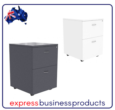 Ready 2 Go Mobile Pedestal 2 Filing Drawer - Two Colours Available