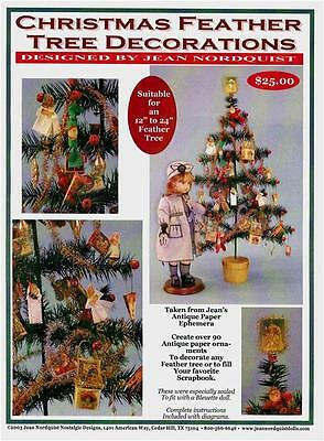 Jean Nordquist's REPRO MINI XMAS PAPER DECORATIONS includes over 90 different