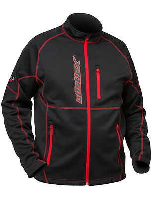 CastleX Mens Black/Red Fusion Snowmobile Mid-Layer Jacket Snow Snocross
