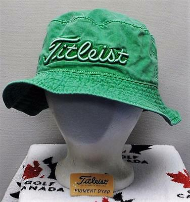 New Mens Titleist Pigment dyed golf bucket cap hat Small
