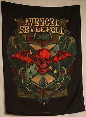 Aveneged Sevenfold A7X Cloth Fabric Poster Flag Wall Banner RARE OOP-New!
