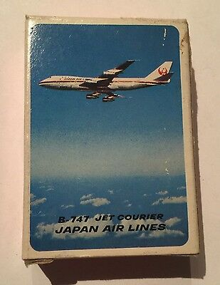 Vintage Deck JAPAN AIRLINES B-747 Jet Courier Mini Playing Cards - Nintendo