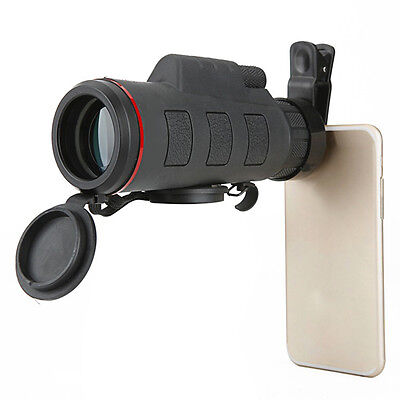 Outdoor 35X50 Zoom Optical Lens Telescope + Clip For Camera Mobile Cell Phone