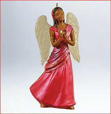 2011 Hallmark WINGS OF LOVE Angel in Red, Faith Ornament *Priority Ship