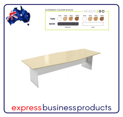 Ready2Go Boat Shaped Boardroom Table - Assorted Colours & Dimensions