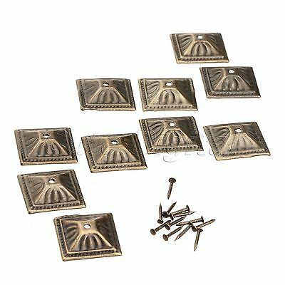 Antique Bronze Square Nailhead Upholstery Nails Furniture Decorative Tack Studs