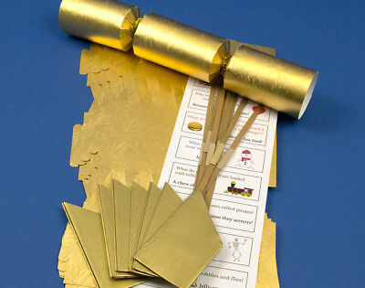 8 Gold Embossed Make & Fill Your Own Cracker Making Craft Kit