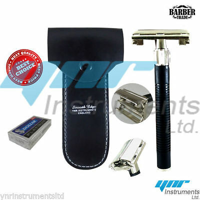 YNR Butterfly Safety Razor & 10 Double Edge Blades Classic Shaving Vintage