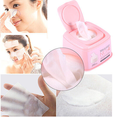 250 Pcs Cotton Puff Makeup Sponge Cleaning Pads Face Facial Cosmetic Tool New