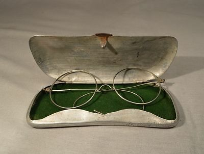 Antique Round Glasses Spectacles Goggles Glasses W. Flexible Frames