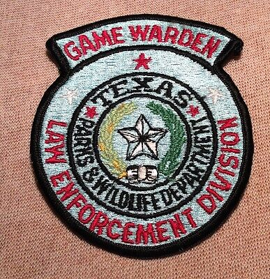TX Texas Department of Parks & Wildlife Game Warden Patch