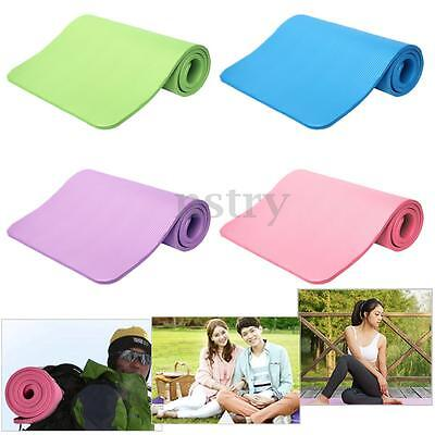 Non Slip 15MM Thick Yoga Gym Exercise Fitness Workout Pilates Mat Pad Cushion