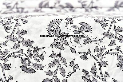2.5 Yards Hand Block Print Fabric Indian 100% Cotton Natural Vegetable Color Art