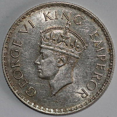 India, George VI (1936-1952): Rupee 1938 (b), dot