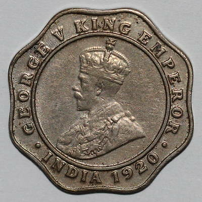 India, George V (1910-1936): 4 Annas 1920 (c)
