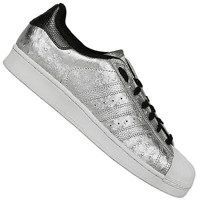 purchase cheap 5b701 ac07e Adidas Originals Superstar Sneakers II Scarpe Struzzo pelle Argento  Metallizzato