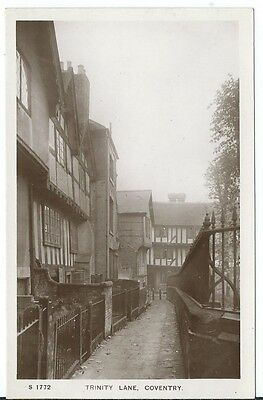 Coventry Trinity Lane Tudor Houses RP by WHS Kingsway #S 1772 Unused
