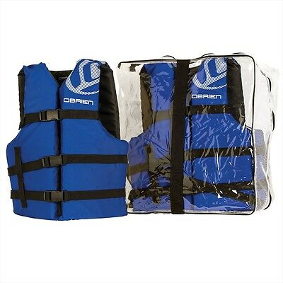 O'Brien Universal Fitting Watersports Buoyancy Vest Family 4 Pack CE Appr 58068