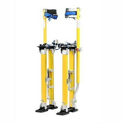 Pentagon Tool Mag Pros Magnesium 24-40in Yellow Drywall Stilts NEW
