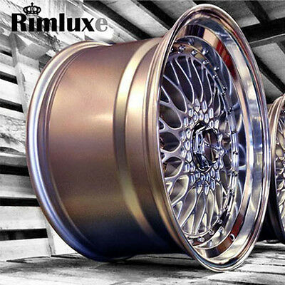 LENSO BSX BBSs RS STYLE ALLOY WHEELS SILVER BLACK GOLD WHITE RED 15 16 17 19
