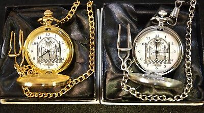 Masonic Pocket Watch Gift Silver Or Gold And With Engraving Or Without Engraving