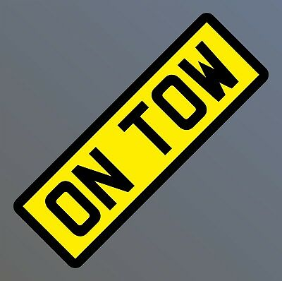Reflective On Tow Sign Towing Sign Magnetic White Reflective Yellow Reflective