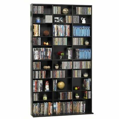 "Bowery Hill 72"" Triple Slim Multimedia Storage Rack in Espresso"
