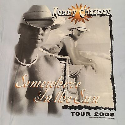 licensed KENNY CHESNEY t shirt-2005 SOMEWHERE IN THE SUN TOUR--looks UNUSED--(L)