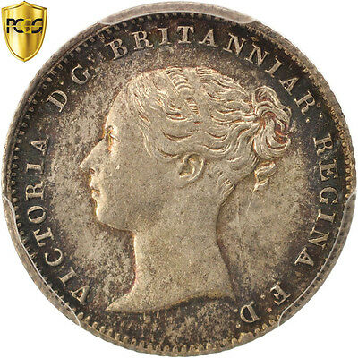[#504909] Great Britain, Victoria, 4 Pence, Groat, 1855, PCGS, MS64, MS(64)