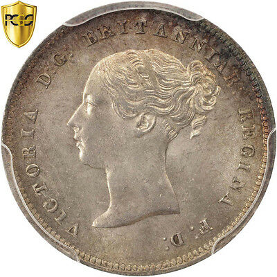 [#504905] Great Britain, Victoria, 4 Pence, Groat, 1863, PCGS, PL66, Silver