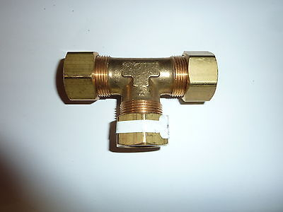 """Brass  3/4"""" X 3/4"""" X 3/4""""  Compression Tee  New  Ab64A-1212  Free Shipping !!!"""