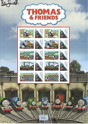 BC-343 2011 Thomas And Friends Autographed Business Smilers Sheet