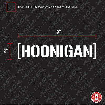 2x HOONIGAN sticker vinyl car decal