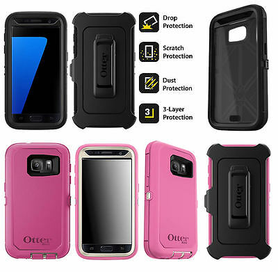 For Samsung Galaxy S7 Genuine Otterbox Defender Rugged Shock Proof Case Cover