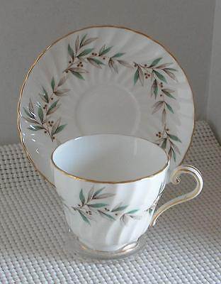 VALENCIA John Aynsley FOOTED CUP & SAUCER (s) Bone China England #8364