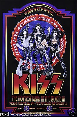 Kiss 1996 New Orleans Superdome Original Concert Poster Signed and Numbered