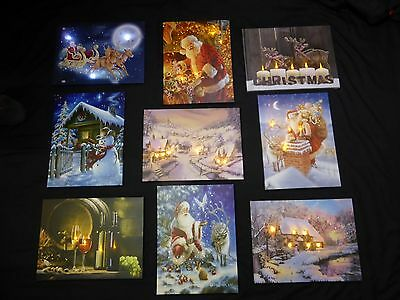 Light Up Christmas Picture With LED Lights Battery Timer Canvas Print Decoration