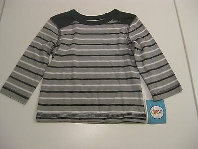 Circo Baby Boy Gray Stripe Long Sleeve Tee Size 12 Months